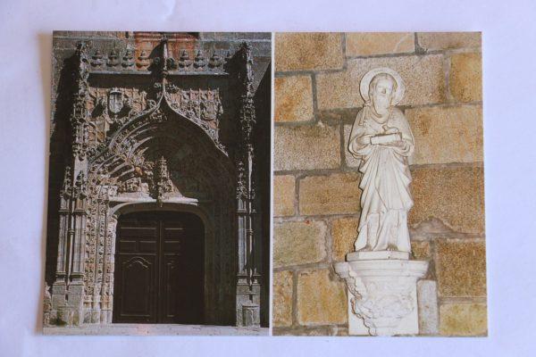 Pórtico da Igreja Matriz / Imagem em Pedra de Ança - postal