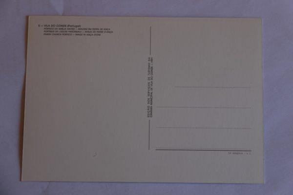 Pórtico da Igreja Matriz / Imagem em Pedra de Ança - postal - verso