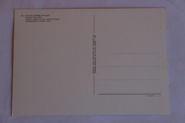 Piscinas / Vela / Ténis - postal - verso