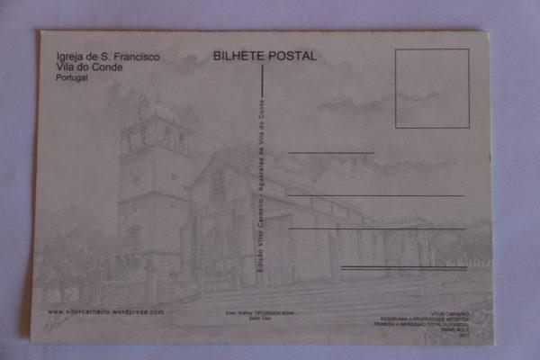 Igreja de São Francisco - postal / pintura - verso