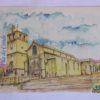 Igreja Matriz - postal / aguarela