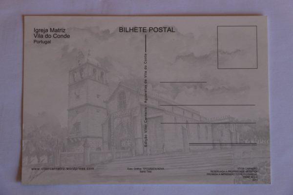 Igreja Matriz - postal / aguarela - verso