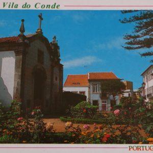 Centro da cidade e capela de Nossa Senhora da Agonia - postal