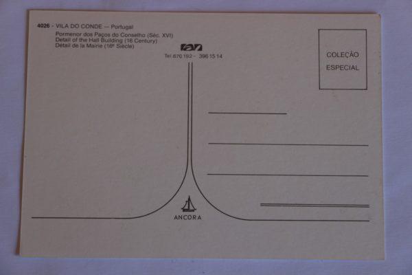 Pormenor dos Paços do Concelho (séc XVI) - postal - verso