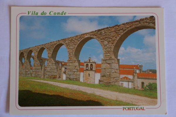 Pormenor do Aqueduto começado em 1704 - postal