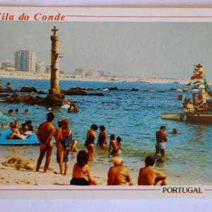 Pormenor de Caxinas, avistando-se a cidade de Vila do Conde