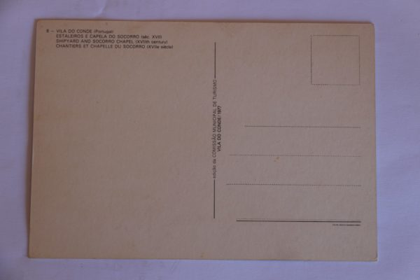 Estaleiros e Capela do Socorro (séc. XVII) - postal - verso