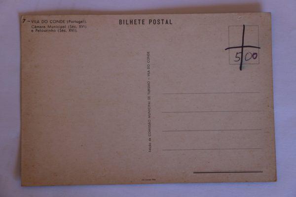 Câmara Municipal (séc. XVI) e Pelourinho (séc. XVI) - postal - verso