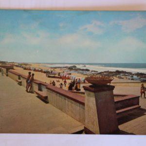 Panorâmica da praia - postal