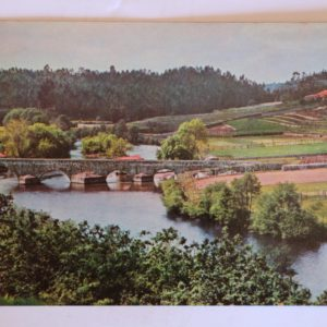 Panorâmica do Rio Ave no lugar da Ponte d'Ave (Românica) - postal