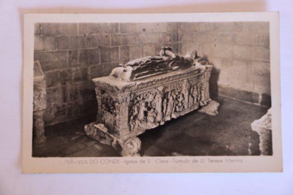 Igreja de Santa Clara - Túmulo de Dona Teresa Martins - postal