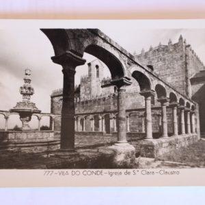 Igreja de Santa Clara - claustro - postal