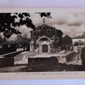 Igreja de São Cristóvão de Rio Mau - postal