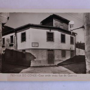 Casa onde viveu Eça de Queiroz - postal