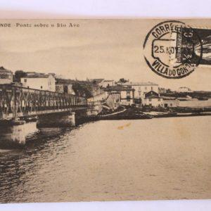 Villa do Conde - Ponte sobre o rio Ave - postal
