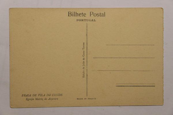 Egreja Matriz de Azurara - postal - berso