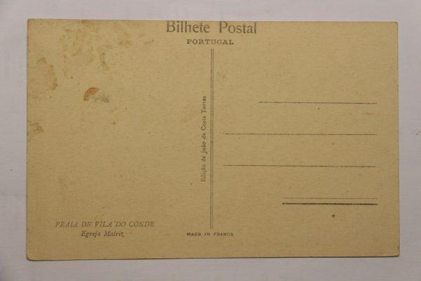 Egreja Matriz - postal - verso