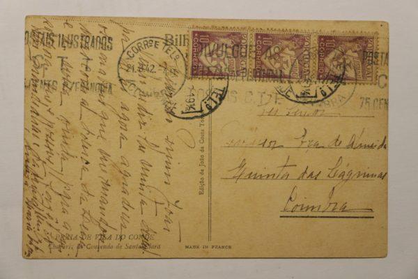 Chafariz do Convento de Santa Clara - postal - verso