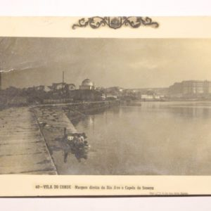 Margem direita do Rio Ave e Capela do Socorro - postal