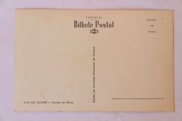Renda de Bilros - postal . verso