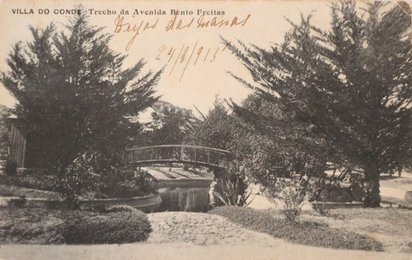 Villa do Conde - trecho da Avenida Bento Freitas - postal