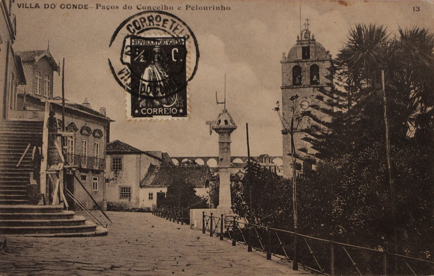 Villa do Conde - Paços do Concelho e Pelourinho - postal