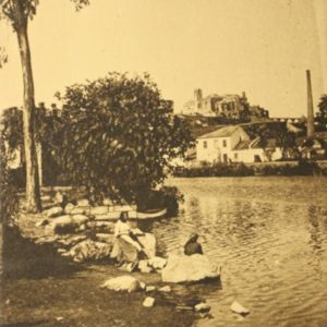 Lavadeiras no Rio Ave - postal - verso