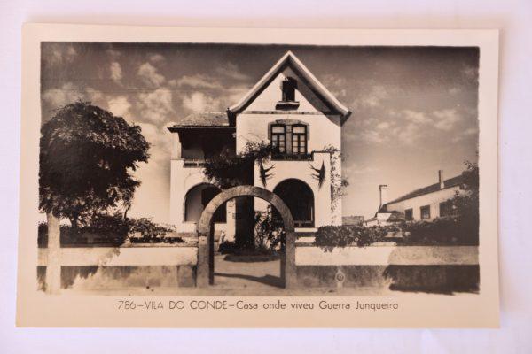 Casa onde viveu Guerra Junqueiro - postal