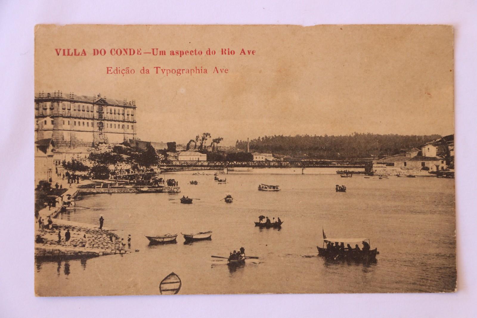 Villa do Conde - Um aspecto do Rio Ave - postal