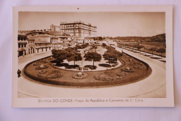 Praça da República e Convento de Santa Clara - postal