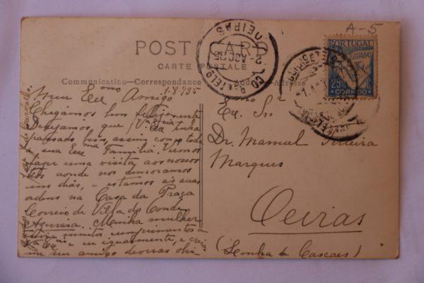 Antigo Claustro do Convento de Santa Clara - postal - verso