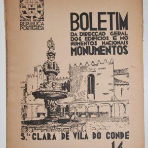 Boletim da Direcção Geral dos Edifícios e Monumentos Nacionais - nº 14 Santa Clara de Vila do Conde - livro