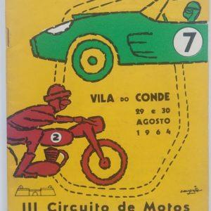 IX Circuito Automóvel / III Circuito de Motos - 29 e 30 Agosto 1964 - programa