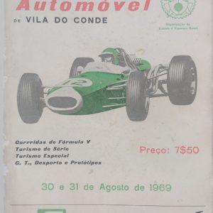 XIV Circuito Automóvel - 30 e 31 Agosto 1969 - programa
