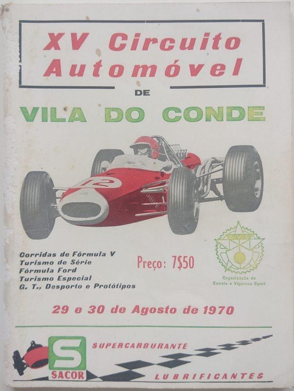 XV Circuito Automóvel - 29 e 30 Agosto 1970 - programa