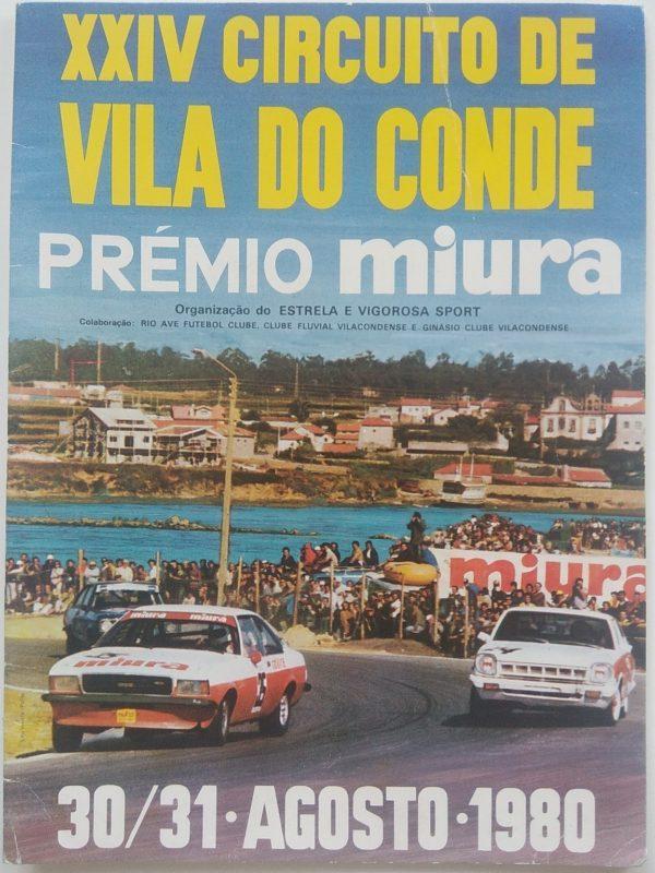 XXIV Circuito Automóvel - 30 e 31 Agosto 1980 - programa