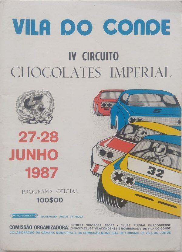 IV Circuito Chocolates Imperial - 27 e 28 Junho 1987 - programa