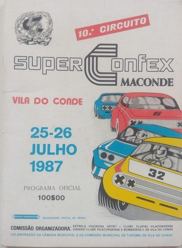 10º Circuito SuperConfex Maconde - 25 e 26 Julho 1987 - programa