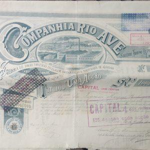 Acção Companhia Rio Ave - 1888