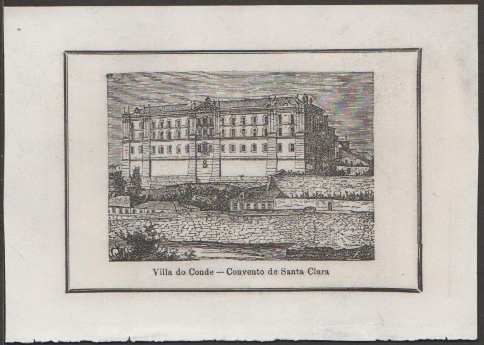 Villa do Conde - Convento de Santa Clara - gravura