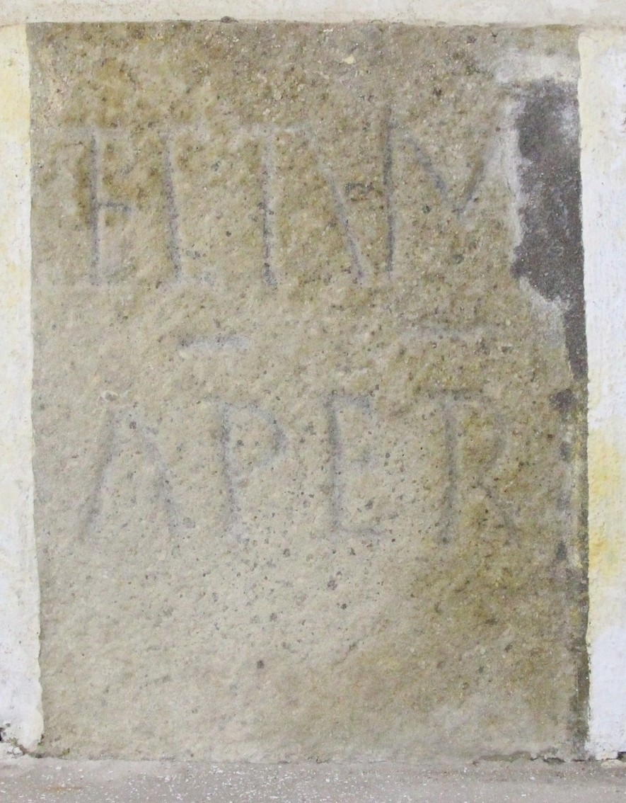 Inscrição lapidar - Igreja de São Bento - Vairão - silhar 2