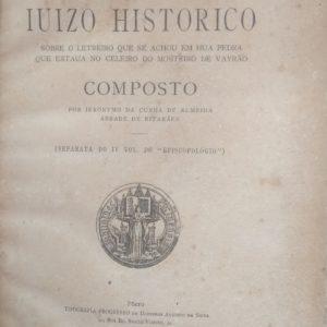 Ieronymo da Cunha de Almeida - Iuizo Historico Vairão
