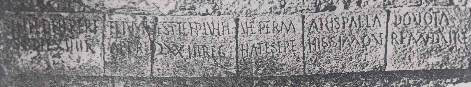 Reprodução em gesso da inscrição lapidar de Vairão