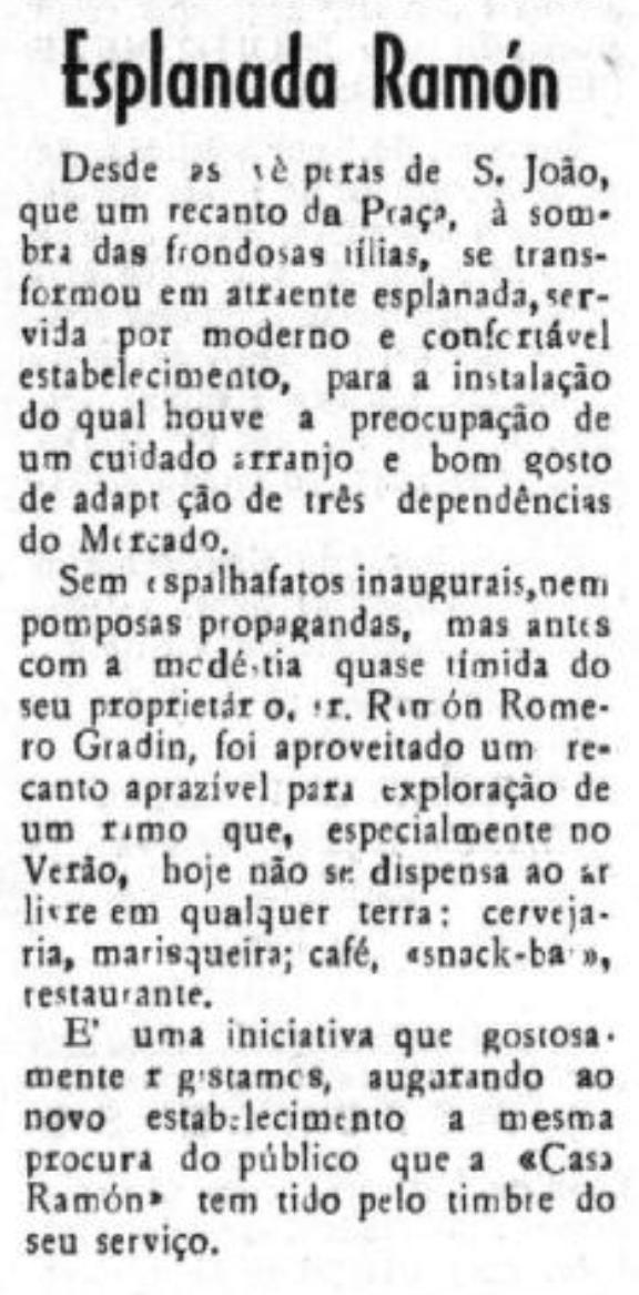Esplanada Ramon - jornal Renovação 27-7-1968